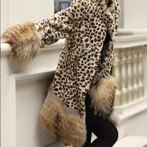 Jackets & Blazers - NWTanimal print faux fur coat-no tags were on coat